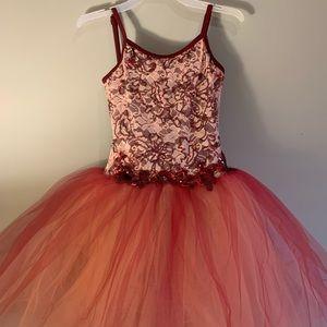 Weissman Garnet Ballet Pink Floral Ballet Costume